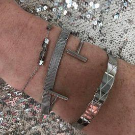 Armband zilver kubus/ cubes – ZAG Bijoux