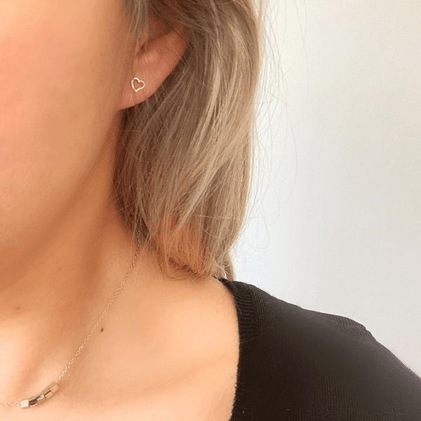 open-hartje oorbellen