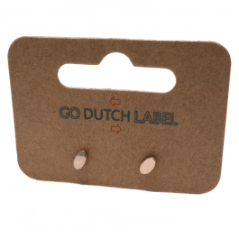 Oorbellen stud rose ovaal goud – Go Dutch Label