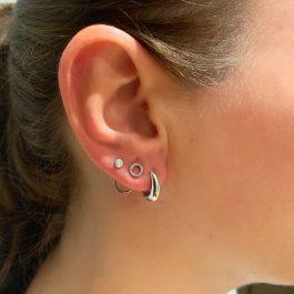 Stud rondje zilver oorbellen – Go Dutch Label