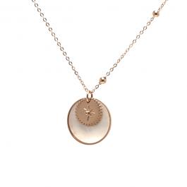 Ketting parelmoer amulet goud extra lang – ZAG Bijoux