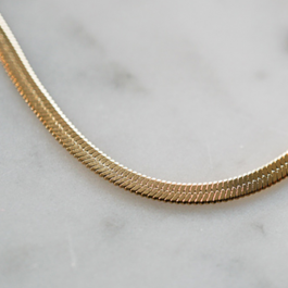 Flat snake ketting goud – ZAG bijoux