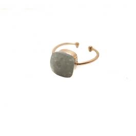 Ring grijze steen goud – Mila