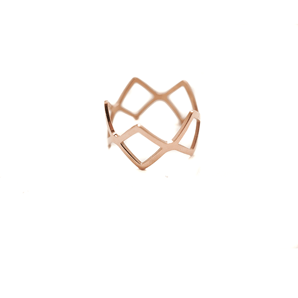 Made by Mila | Ring ruit rose goud - ZAG Bijoux 1