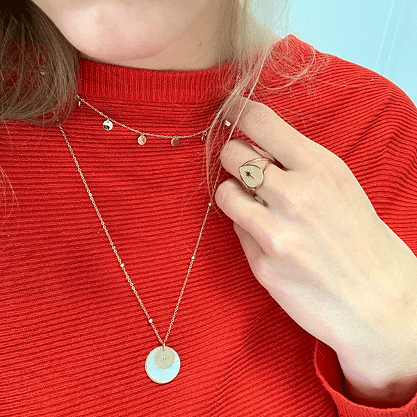 Made by Mila | Ketting coins goud - ZAG Bijoux 2