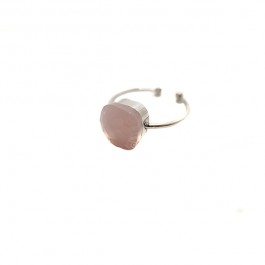 Ring roze steen zilver – Mila