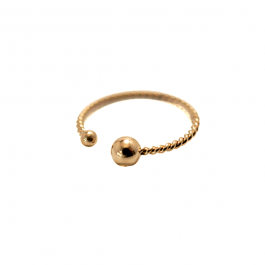 Ring enkel twisted round goud – ZAG bijoux