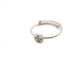 Cirkel swarovski ring zilver – ZAG Bijoux