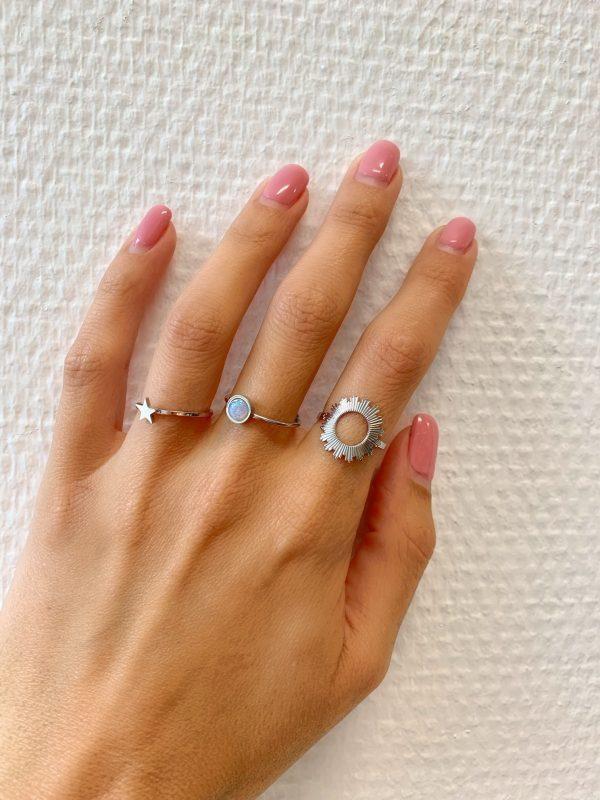 ringen zilver zag bijoux made by mila