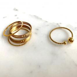 Ring enkel twisted round goud – ZAG bijoux