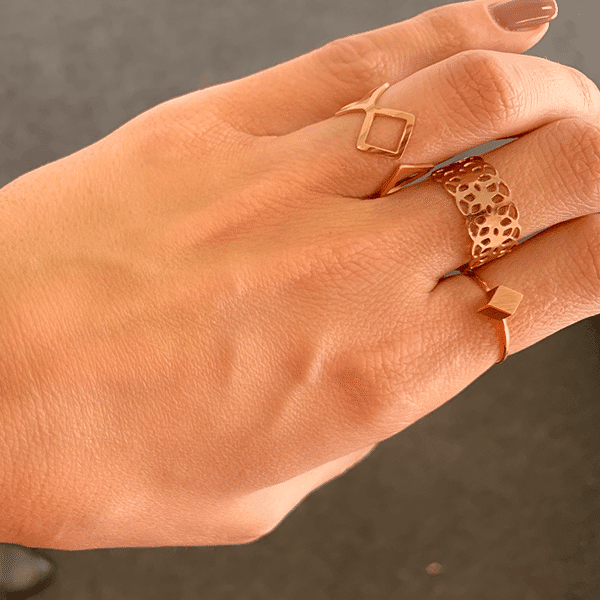 Made by Mila | Ring ruit rose goud - ZAG Bijoux 2