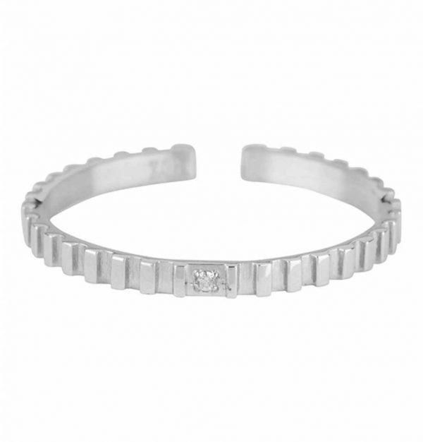 Made by Mila | ZAG Bijoux - Kartel swarovski ring zilver 1