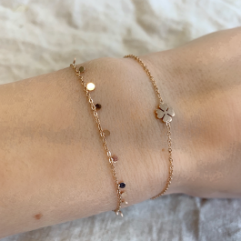 Armband dichte klaver rose goud – Go Dutch Label