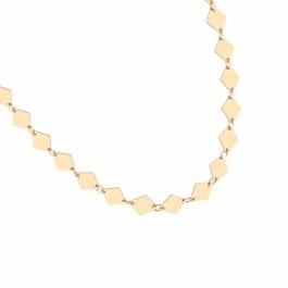 Choker ketting ruit goud – Mila