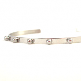 Armband dotted balls zilver – ZAG Bijoux