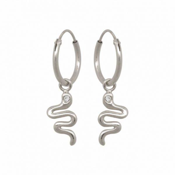 Made by Mila | Snake sterling silver - Eline Rosina oorbellen 1