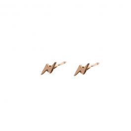 Stud bliksemschicht goud oorbel – Go Dutch Label