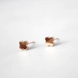 Oorbellen klaver (studs) rose goud – ZAG Bijoux
