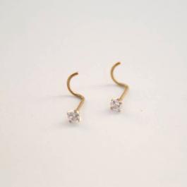 Oorbellen swarovski goud – ZAG Bijoux