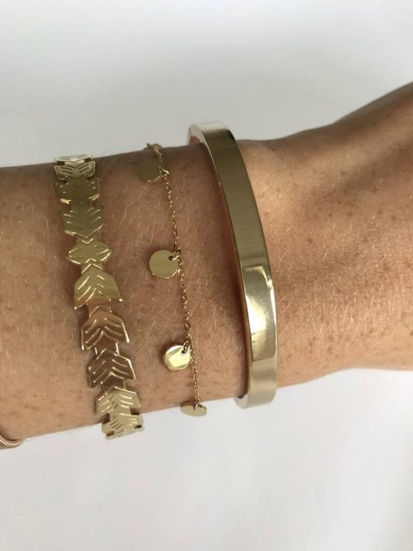 Made by Mila | Armband coins rose goud - ZAG Bijoux 2