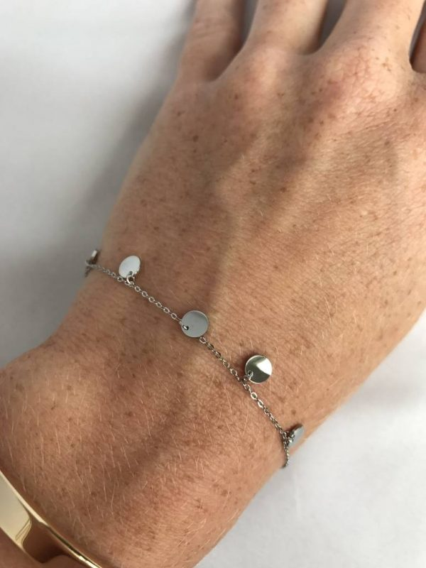 Made by Mila | Armband coins zilver - ZAG Bijoux 2