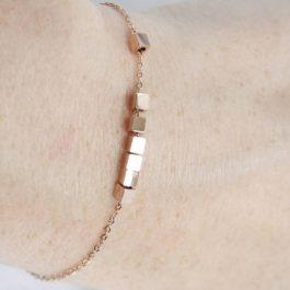 Armband kubus/cubes rose goud – ZAG Bijoux