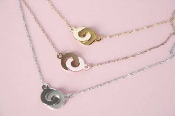 Made by Mila | Cartier two rings zilver ketting - ZAG Bijoux 4