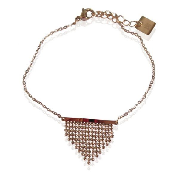 Made by Mila | Armband bohemian rose goud - ZAG Bijoux 1
