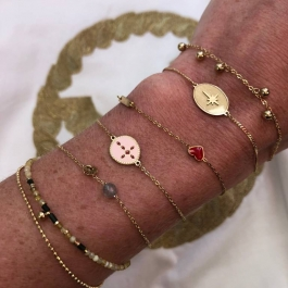 Armband sparkling north star nude – ZAG Bijoux