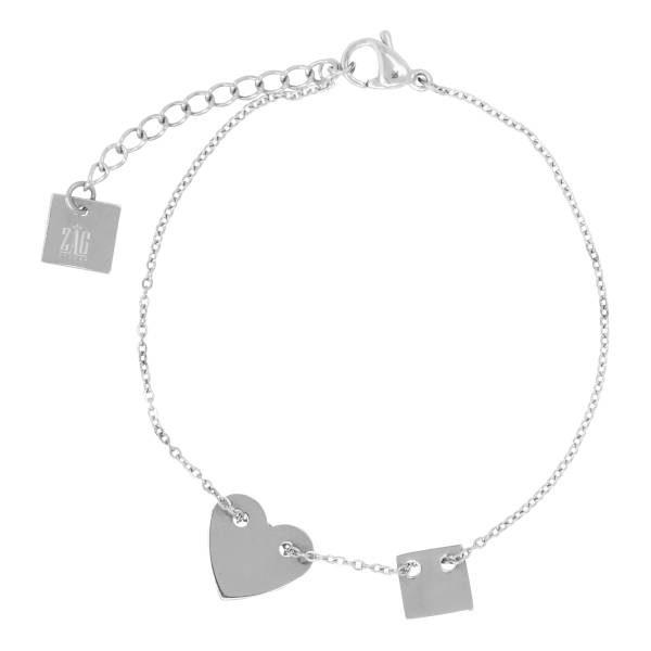 Made by Mila | Armband hartje zilver – ZAG Bijoux 1