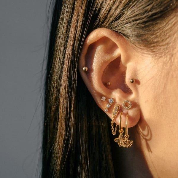 Made by Mila | Zirconia cone earrings sterling zilver- Eline Rosina oorbellen 2