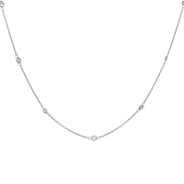 Made by Mila | Zirconia dots necklace sterling zilver - Eline Rosina 1