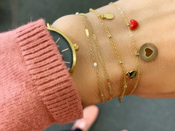 Made by Mila | Armband 5 coins goud - Go Dutch Label 2