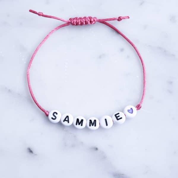 kralen armband met naam