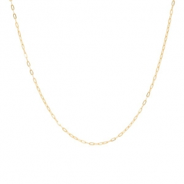 Short chunky chain necklace gold – Eline Rosina