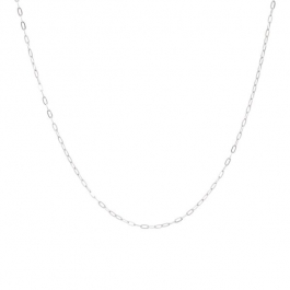 Short chunky chain necklace zilver – Eline Rosina