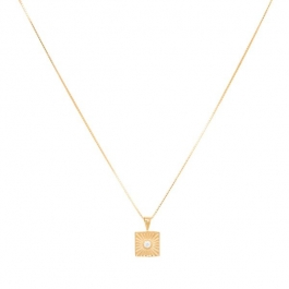 Sunburst zirconia necklace in gold  – Eline Rosina