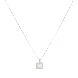 Sunburst zirconia necklace in zilver  – Eline Rosina
