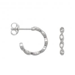 Victorian zirconia hoops in sterling silver- Eline Rosina oorbellen