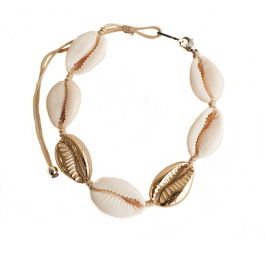 Schelpenarmband goud – ZAG Bijoux