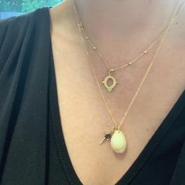 Ketting open ovaal goud – ZAG Bijoux