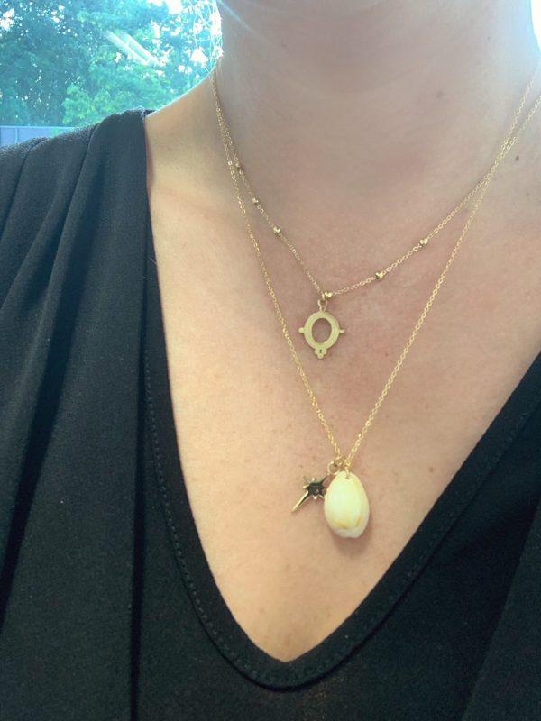 ketting goud zag bijoux made by mila