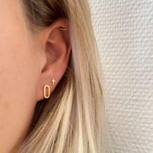 oorbel goud go dutch label made by mila