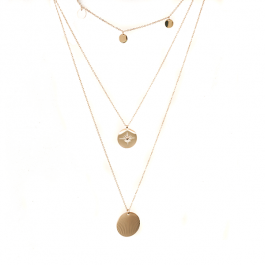 Kettting 3 layers goud – ZAG Bijoux