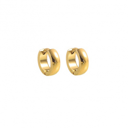 Oorbellen hoops goud 13 mm – Go Dutch Label