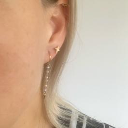 Oorbellen ster goud – ZAG Bijoux
