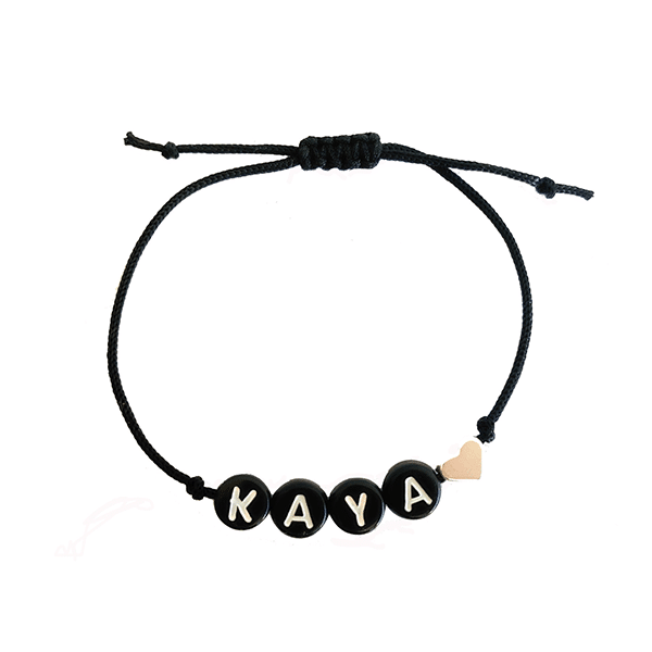 kralenarmband met naam made by mila