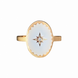 Ring north star wit – Mila
