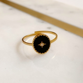 Ring north star zwart – Mila