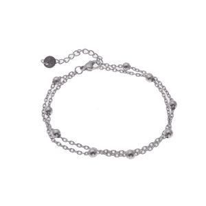 armband go dutch label zilver